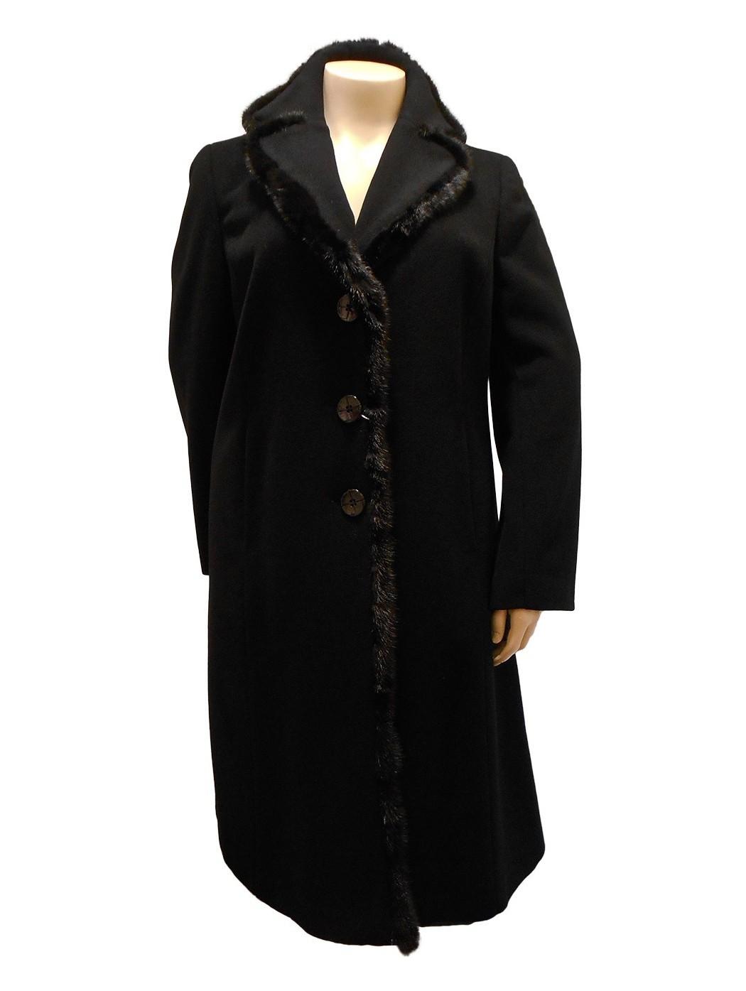 Cappotto in cashmere nero...