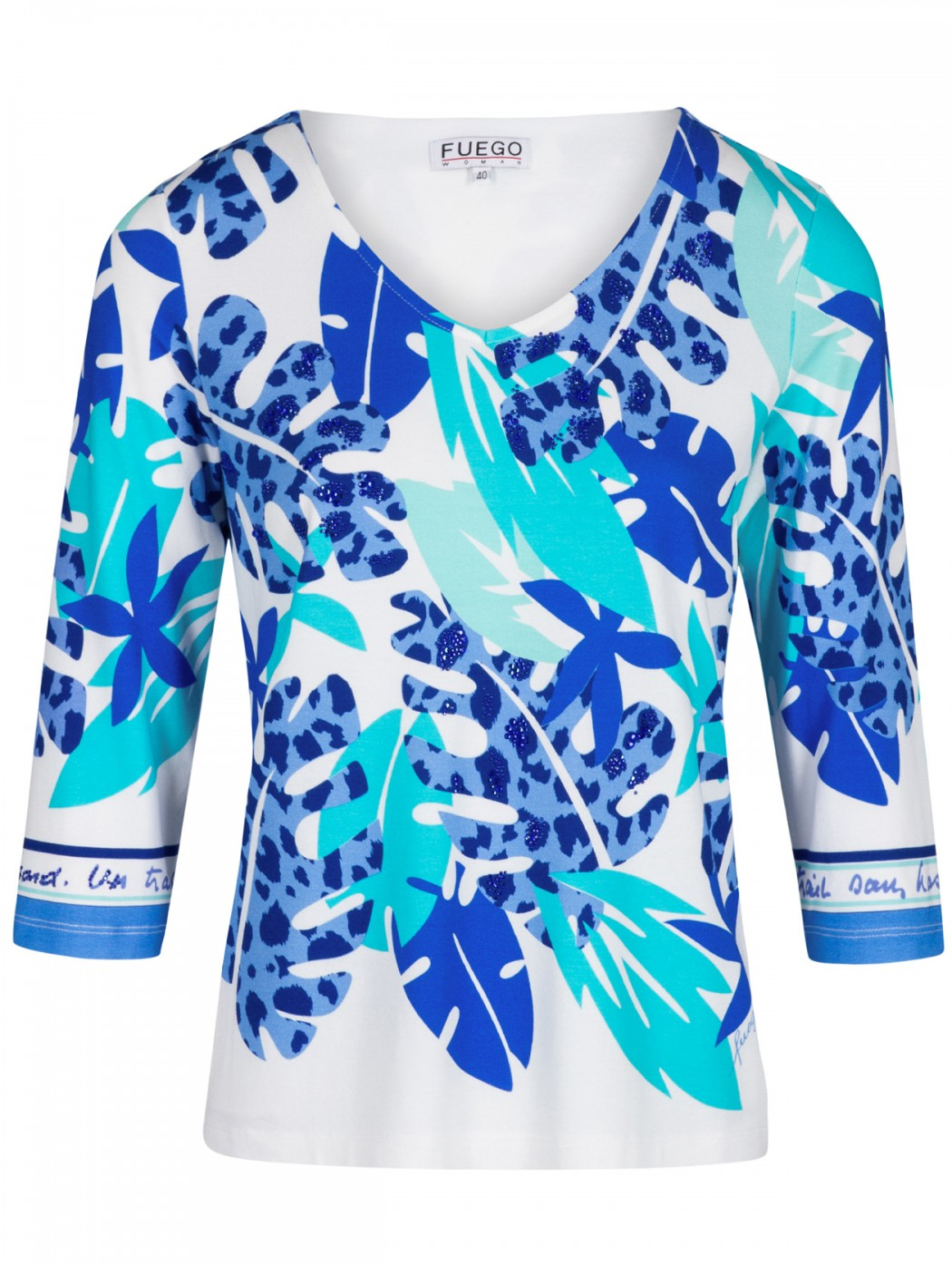 Fuego Woman white and blue...