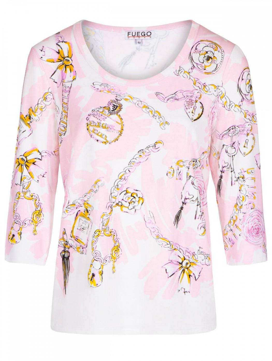 T-shirt rosa fantasia e...