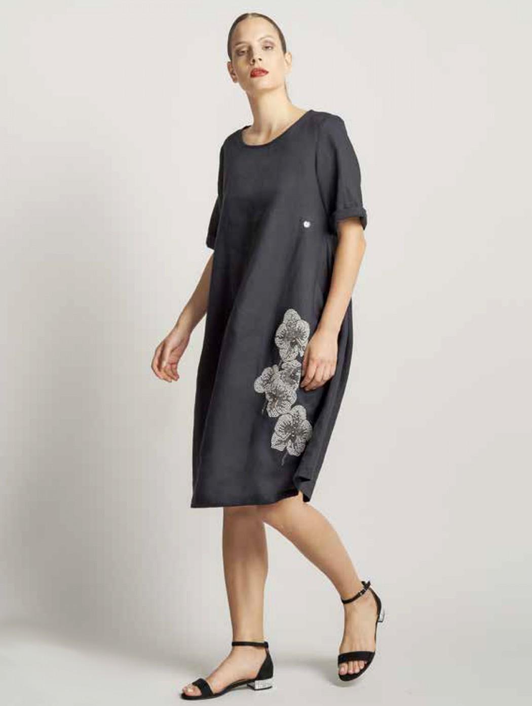 Piero Moretti black linen...