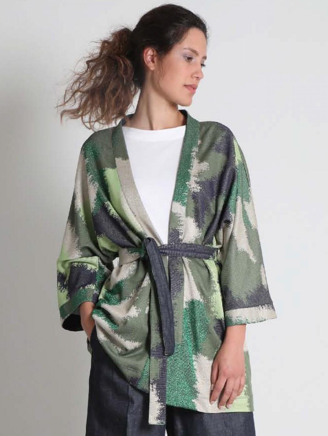Cardigan kimono lungo...