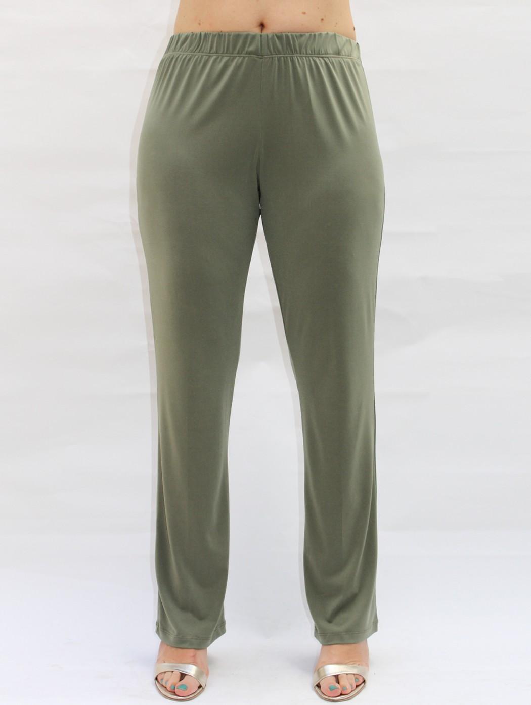 Pantaloni jersey verde...