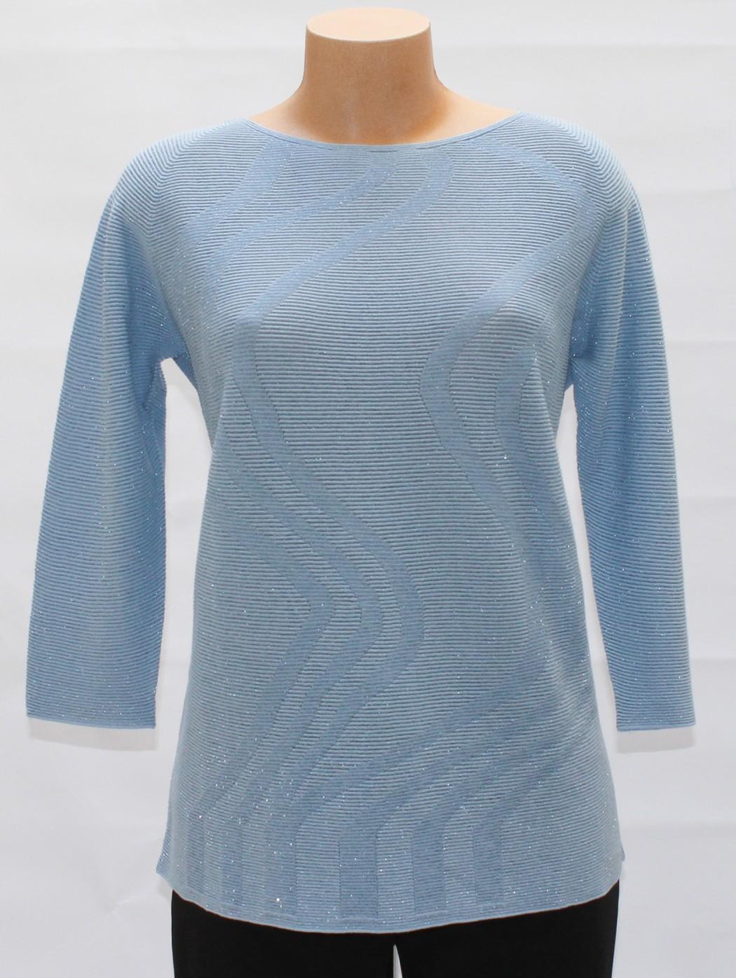 Maglione di cotone celeste...