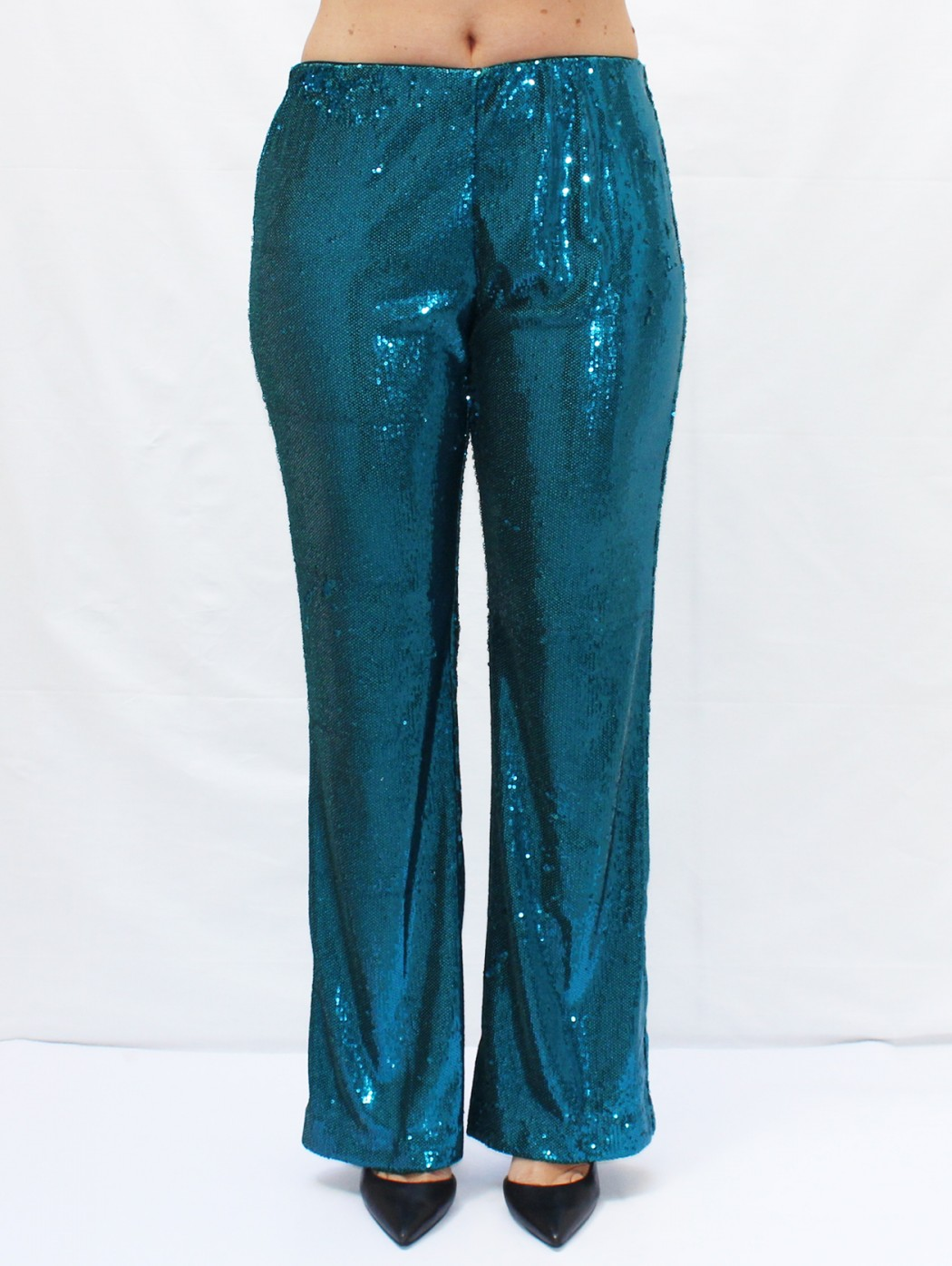 Shiny turquoise sequin...