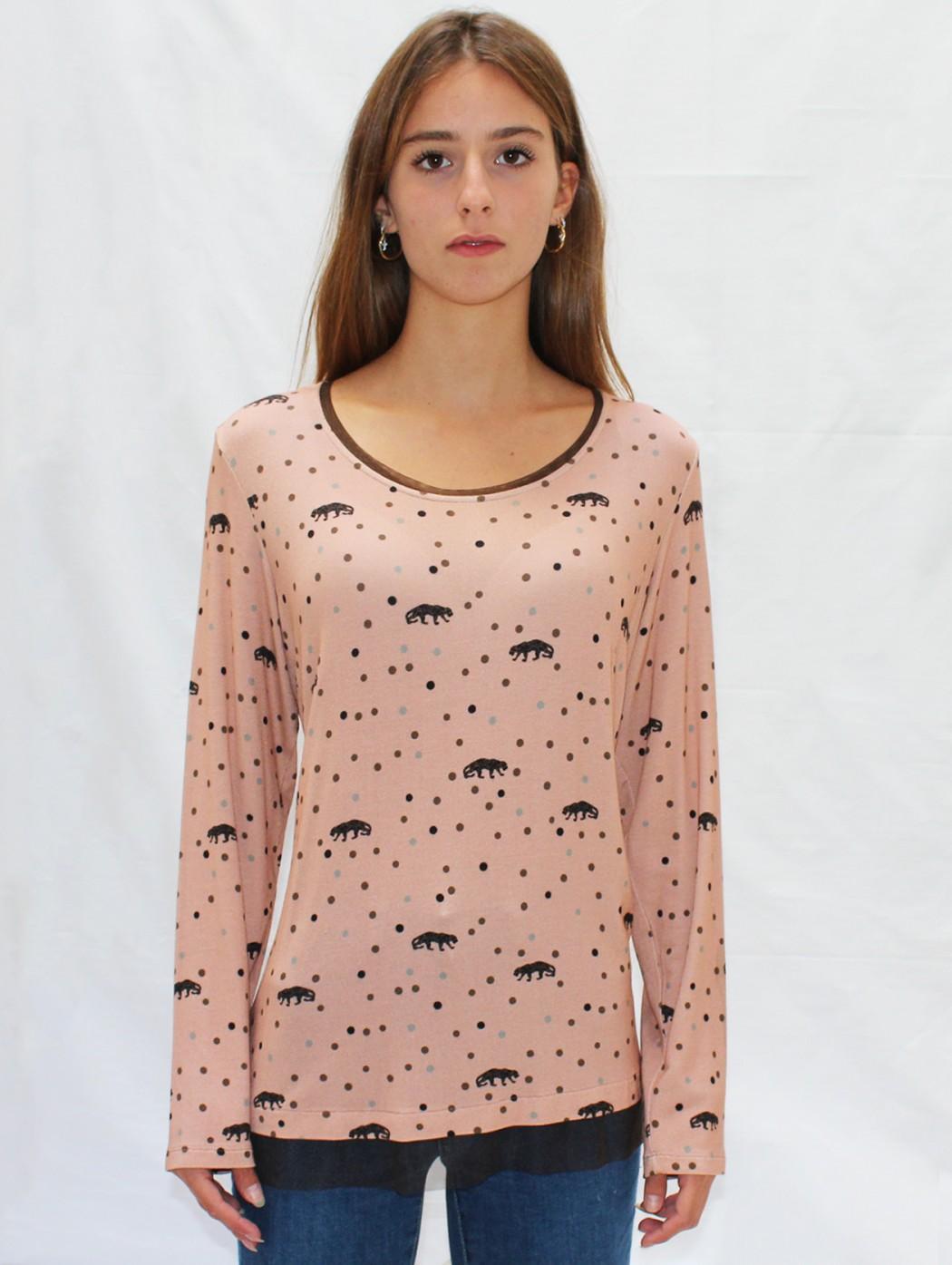 Pink polka dots long...