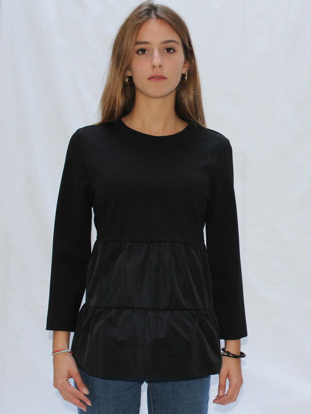 Maglia blusa casacca nera...