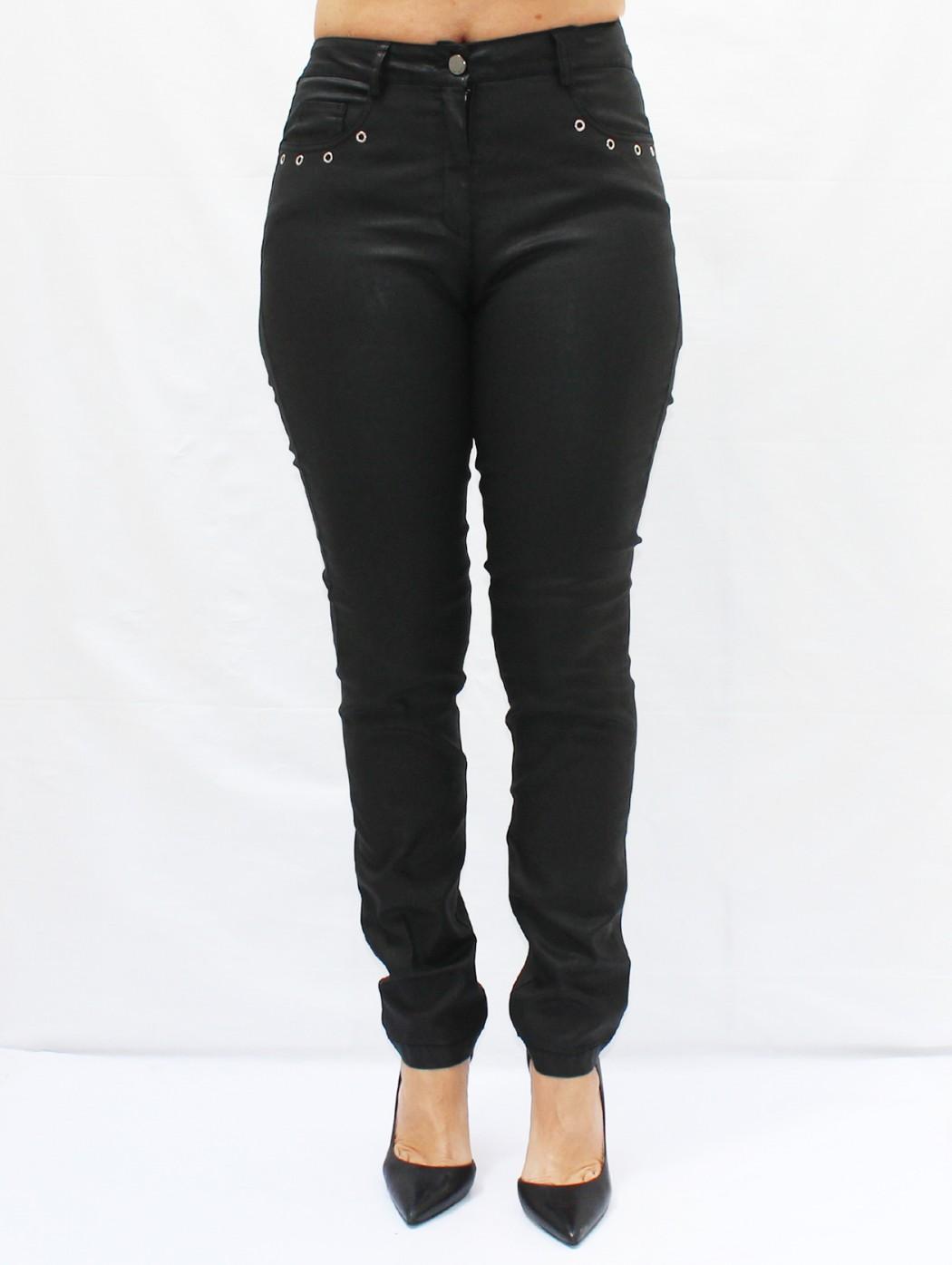 Pantaloni jeans pelle nera...