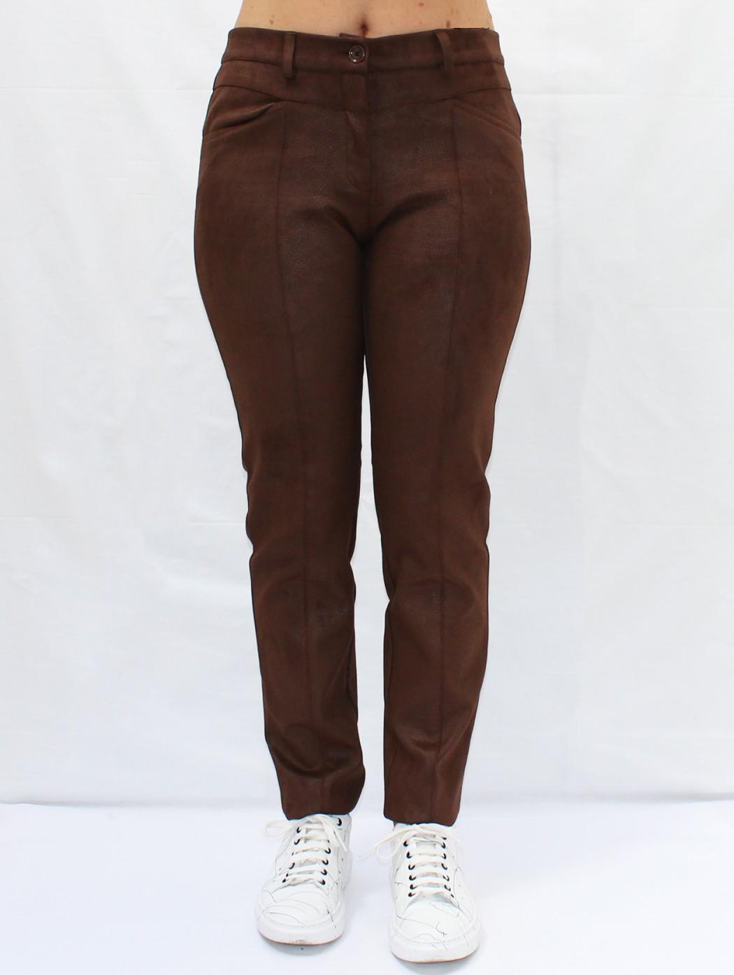 Pantaloni marrone alcantara...