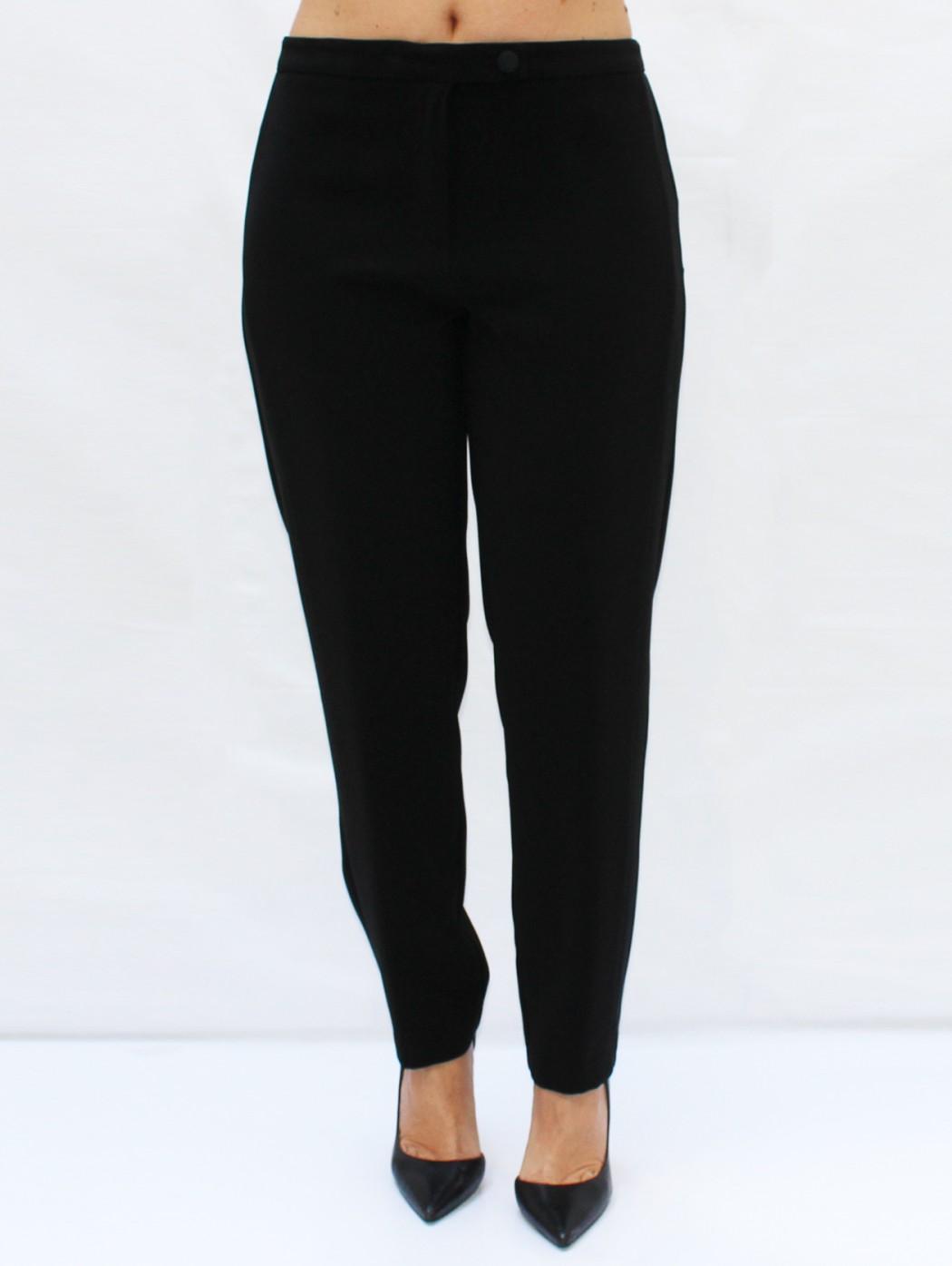 Pantaloni neri con banda...