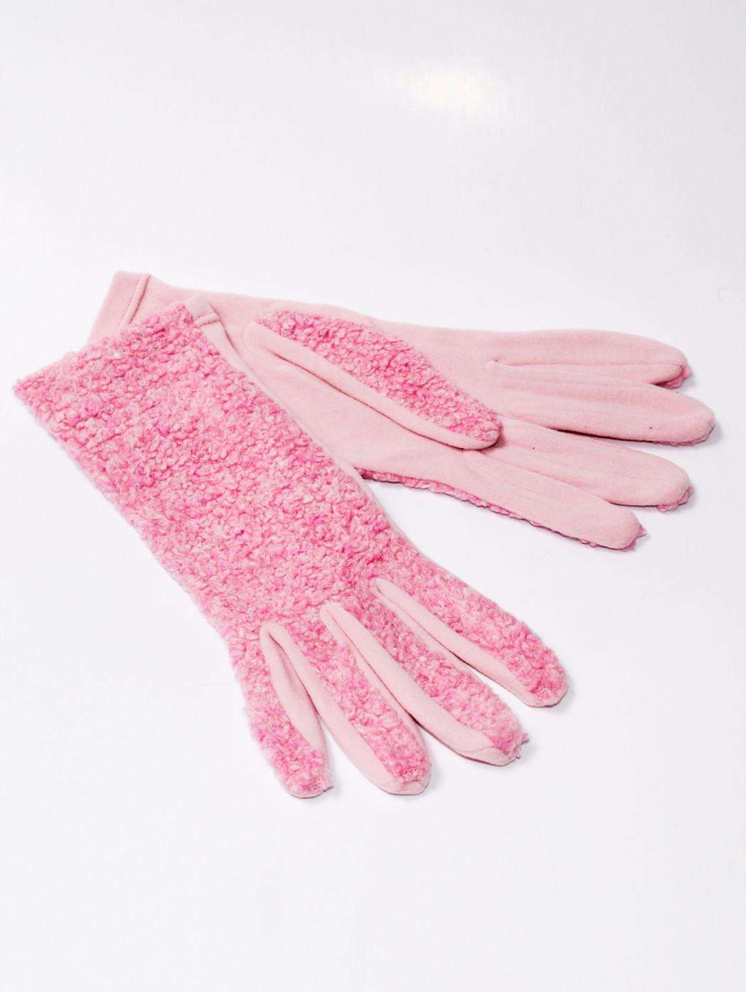 Italian plain fleece pink...