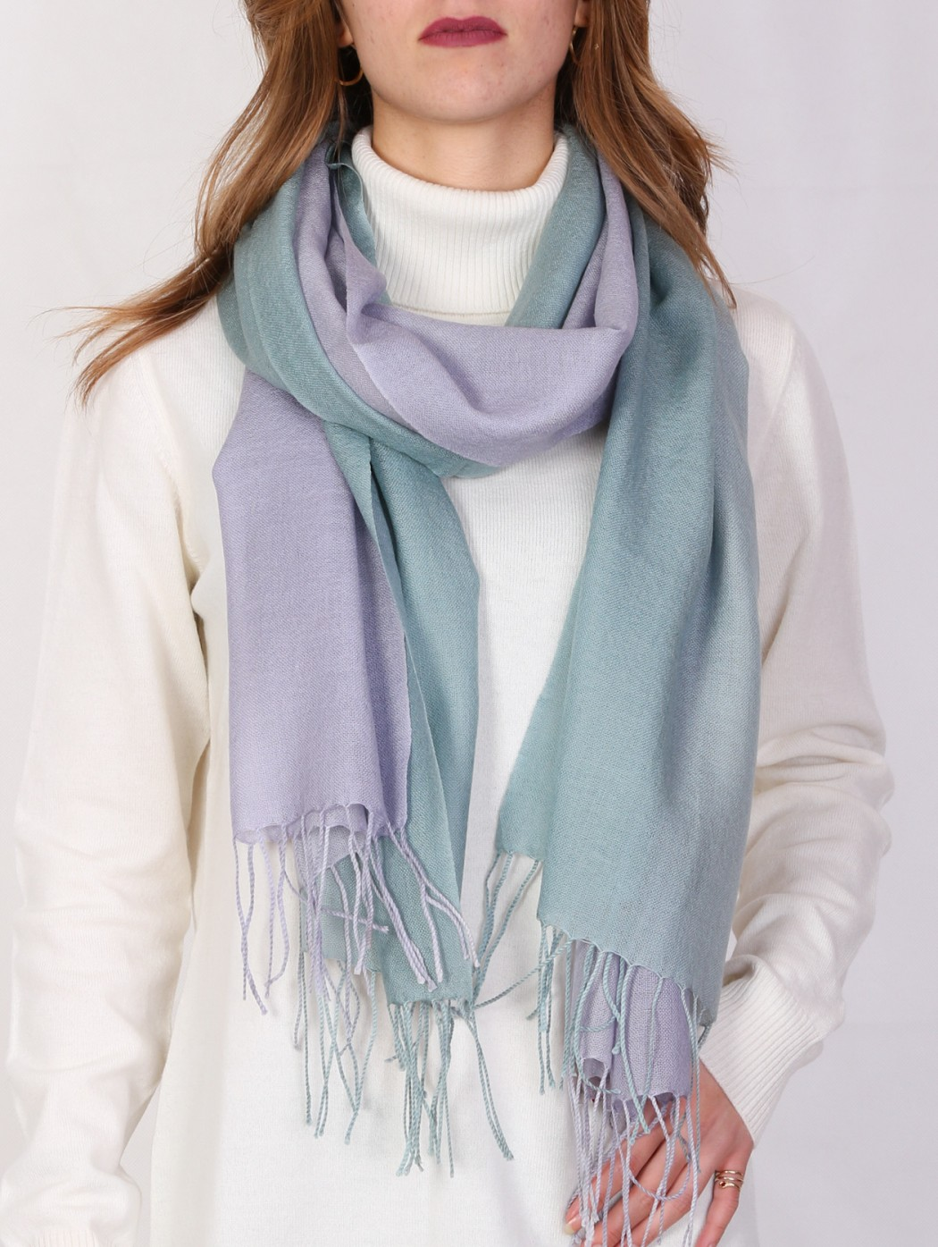 Cashmere and wool lilac and...