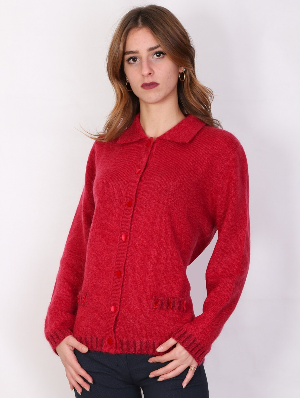 Musetti mohair wool red...