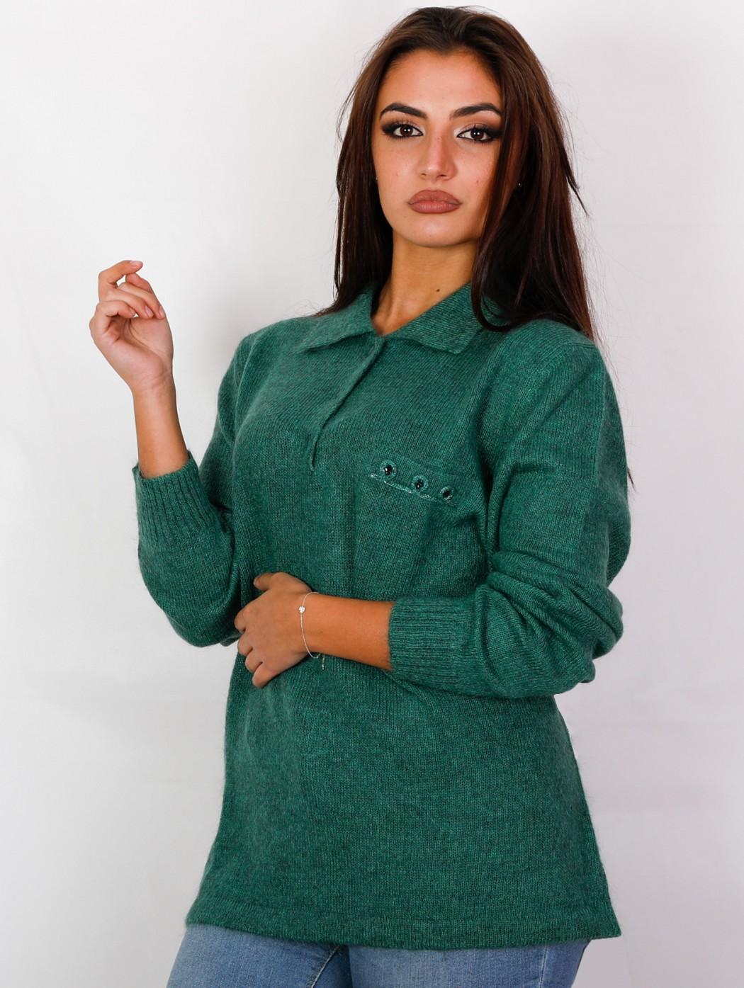 Musetti mohair wool green...