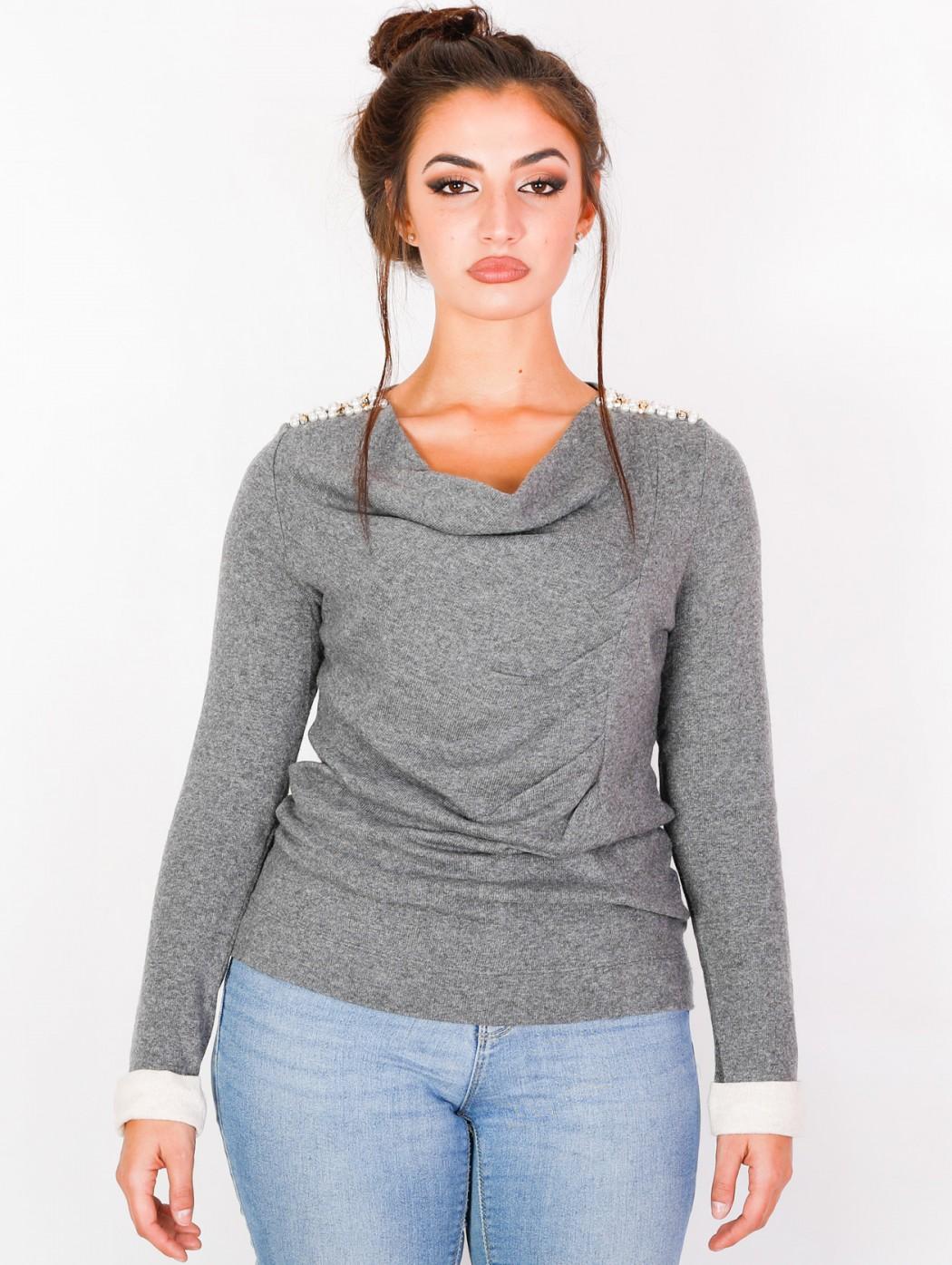 Maglia lana grigia elegante...