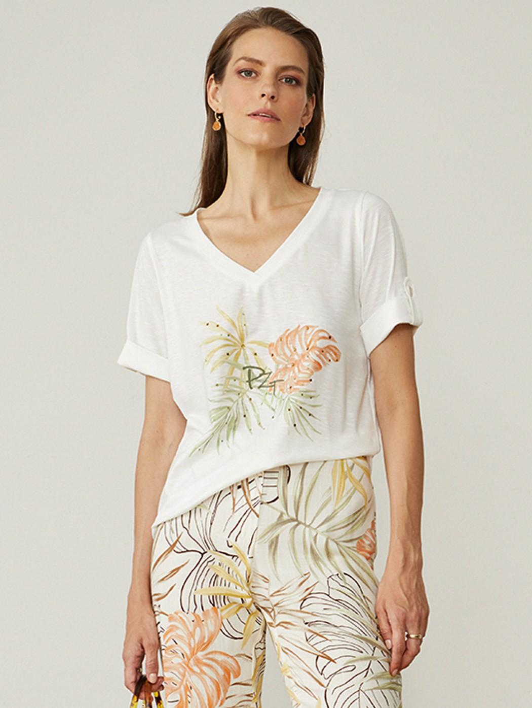 Paz Torras white V t-shirt...