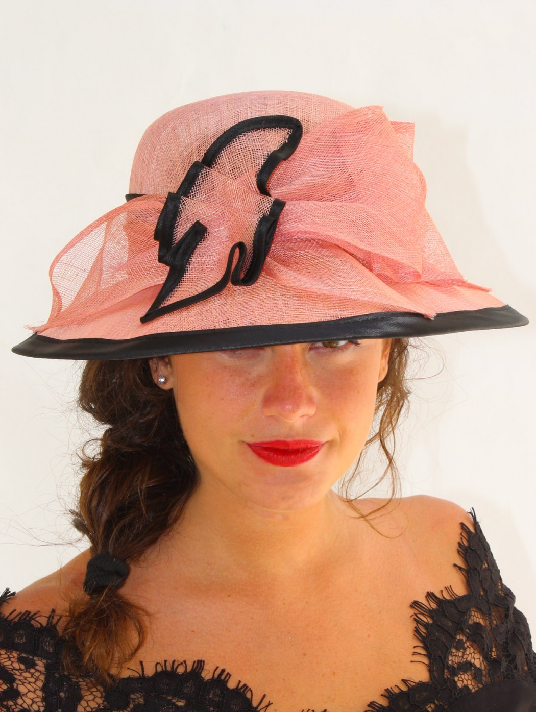 Cappello da cerimonia rosa...