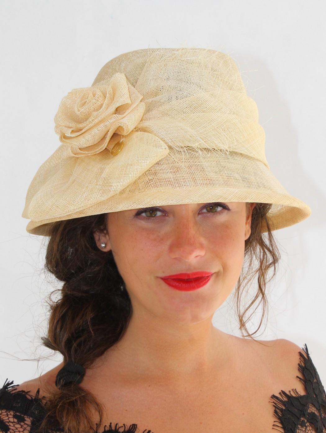 White sand high wedding hat