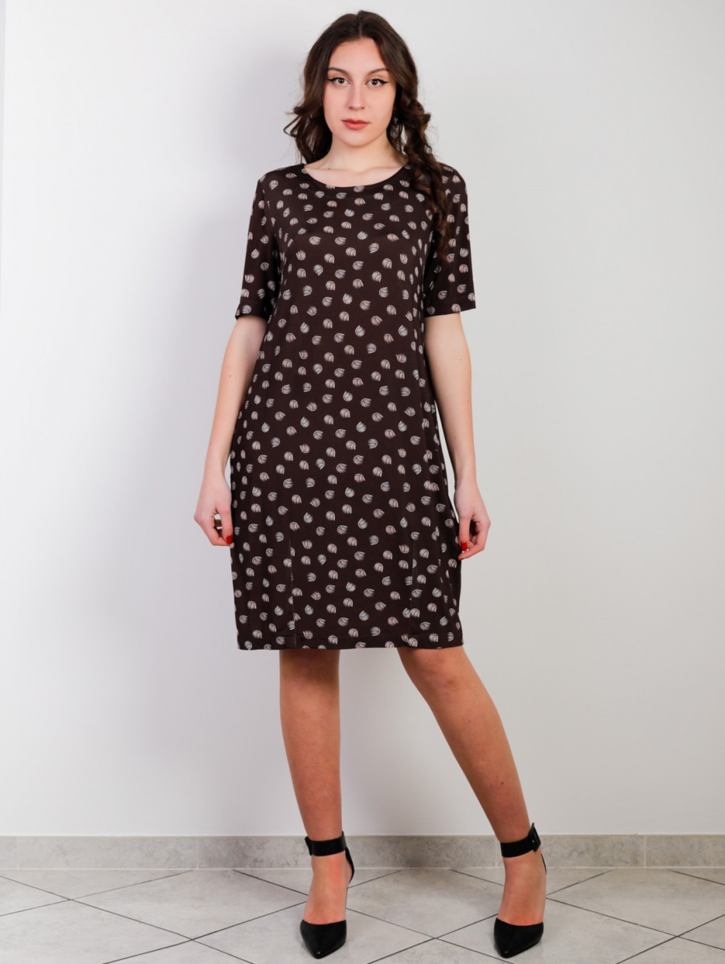 Plus size brown daily dress...